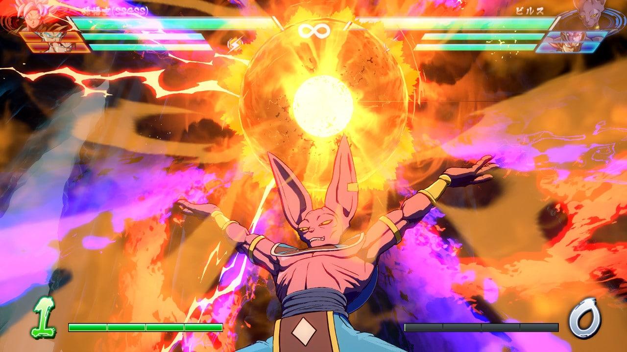 Dragon Ball FighterZ - Ataque especial Beerus