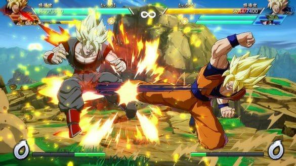 Dragon Ball FighterZ - Combate com clone