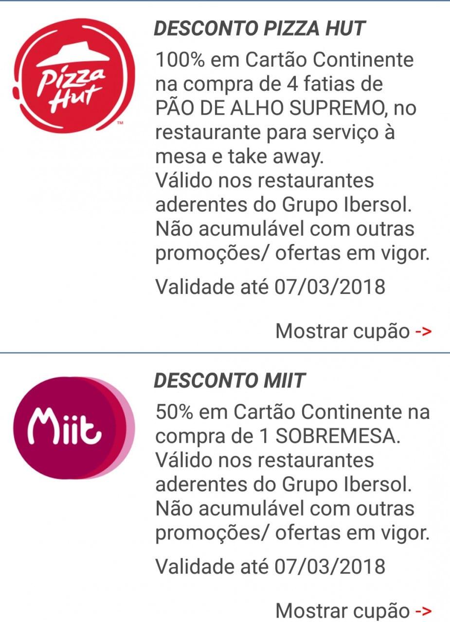 iBonus – Pizza Hut e Miit