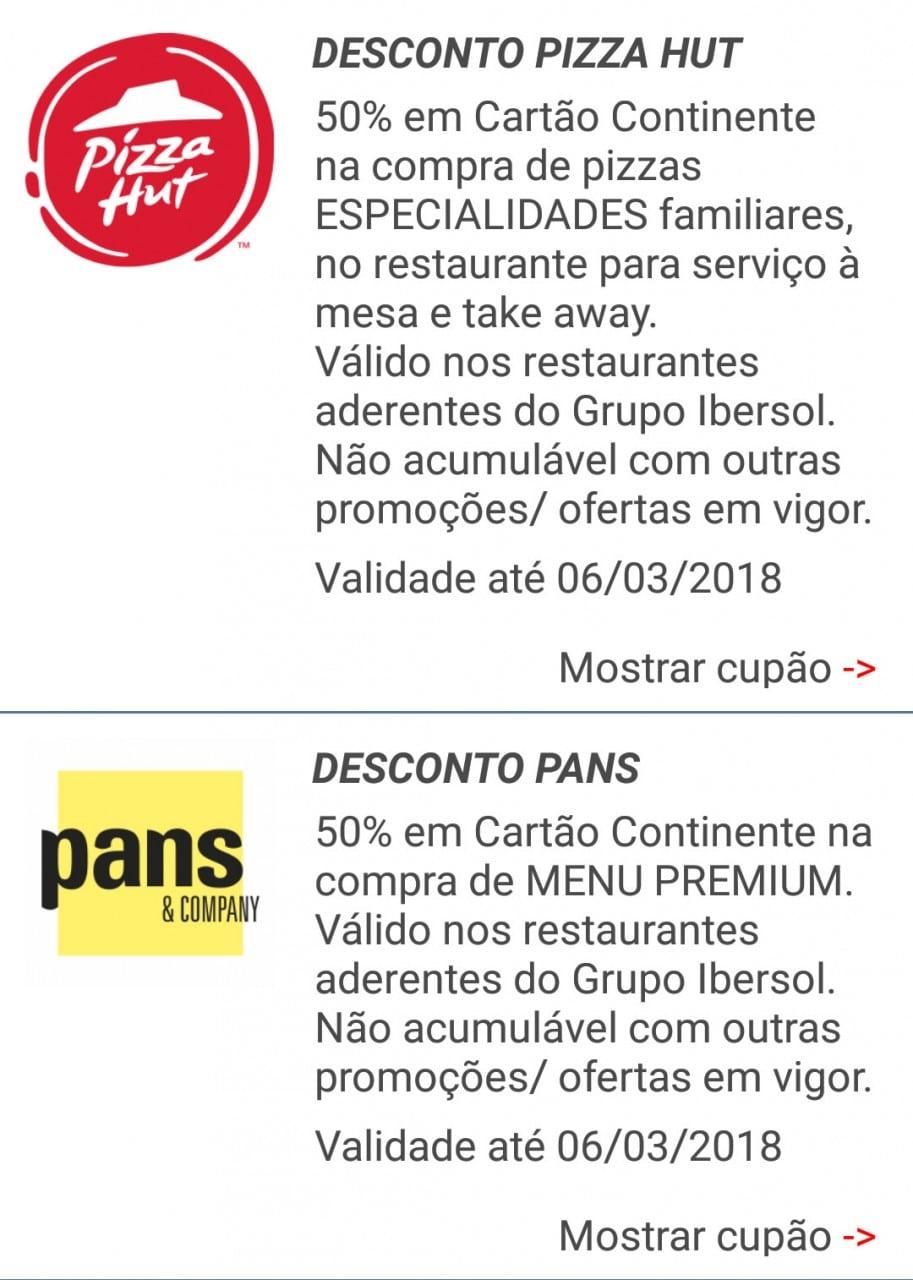 iBonus -Pizza Hut e Pans & Company