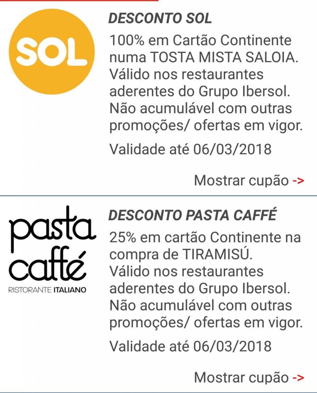 iBonus – SOL e Pasta Caffé