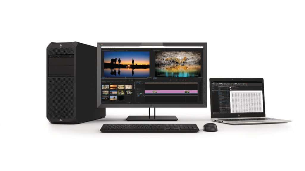 HP Z27x DreamColor Display com o Z6 e o ZBook