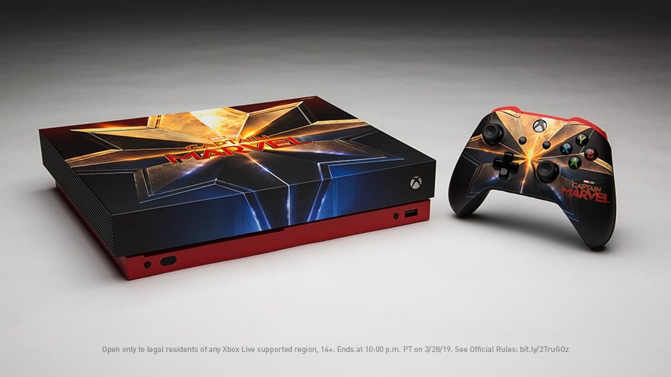 Xbox One X Captain Marvel