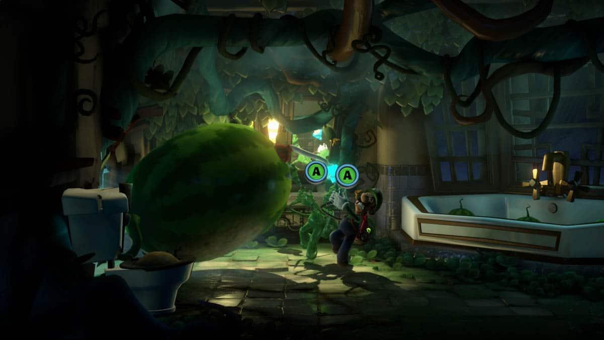 Luigi e Gooigi em Luigi's Mansion 3