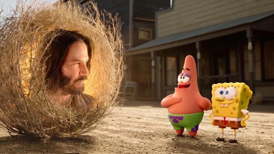 Keanu Reeves no novo filme de SpongeBob