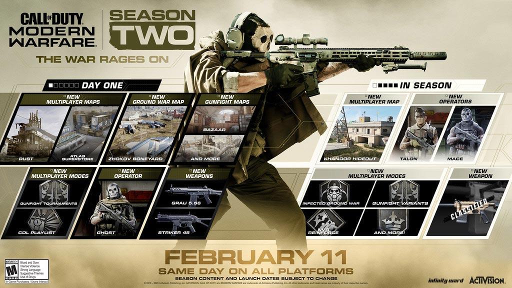 call of duty modern warfare season 2 detalhes