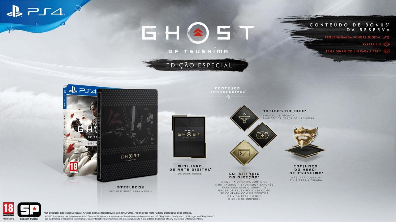 ghost of tsushima edicao especial