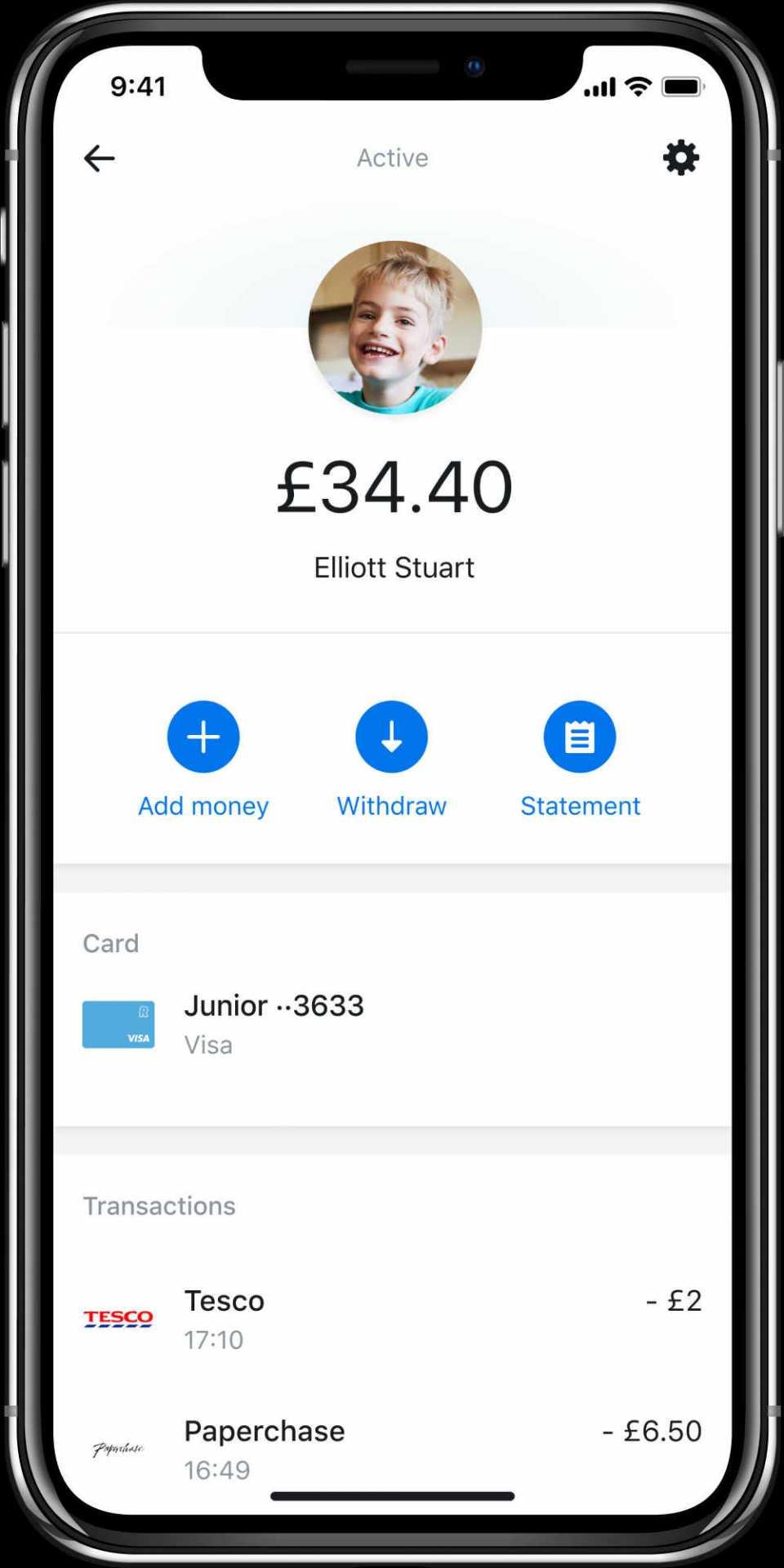 junior parent app kid wallet optimized
