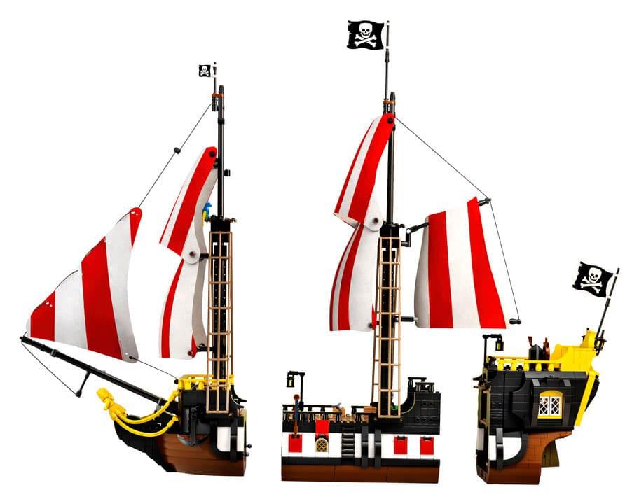 lego ideas os piratas da baía da barracuda 1