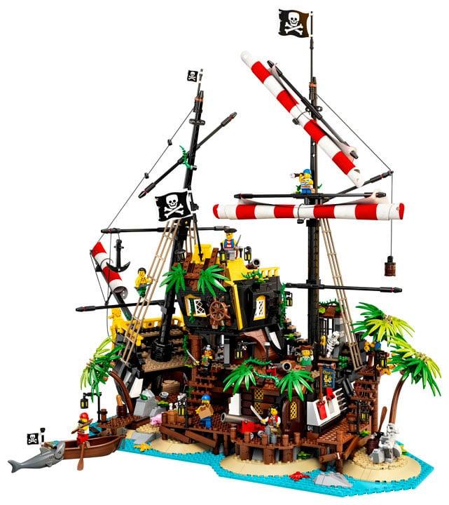 lego ideas os piratas da baía da barracuda 3
