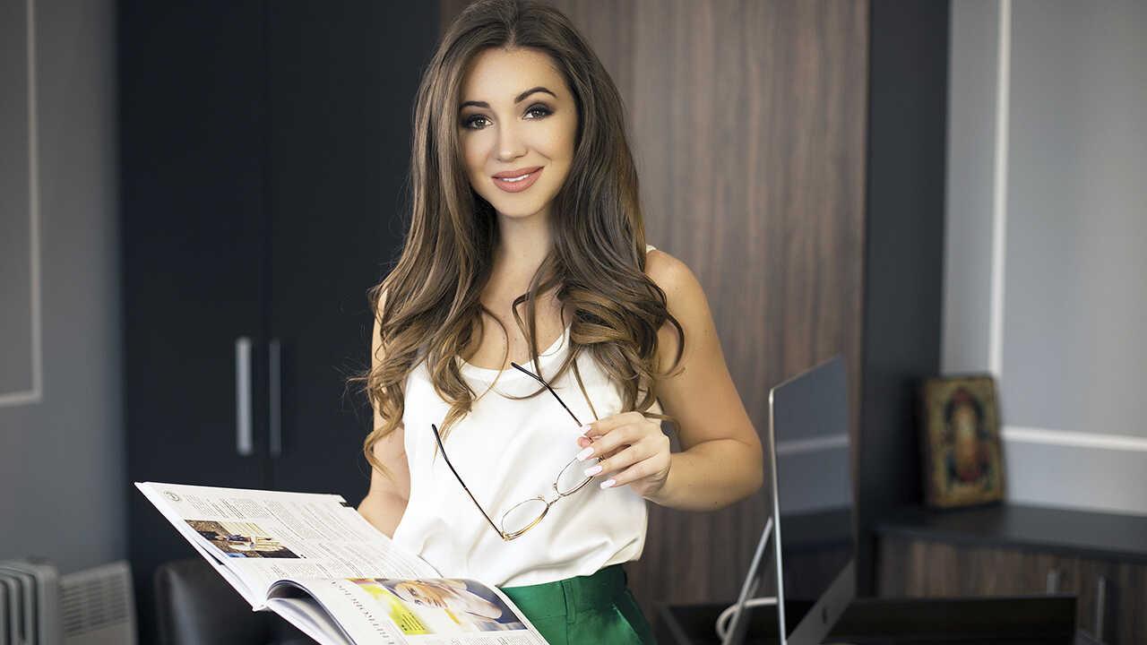 Elvira Gavrilova no seu escritório