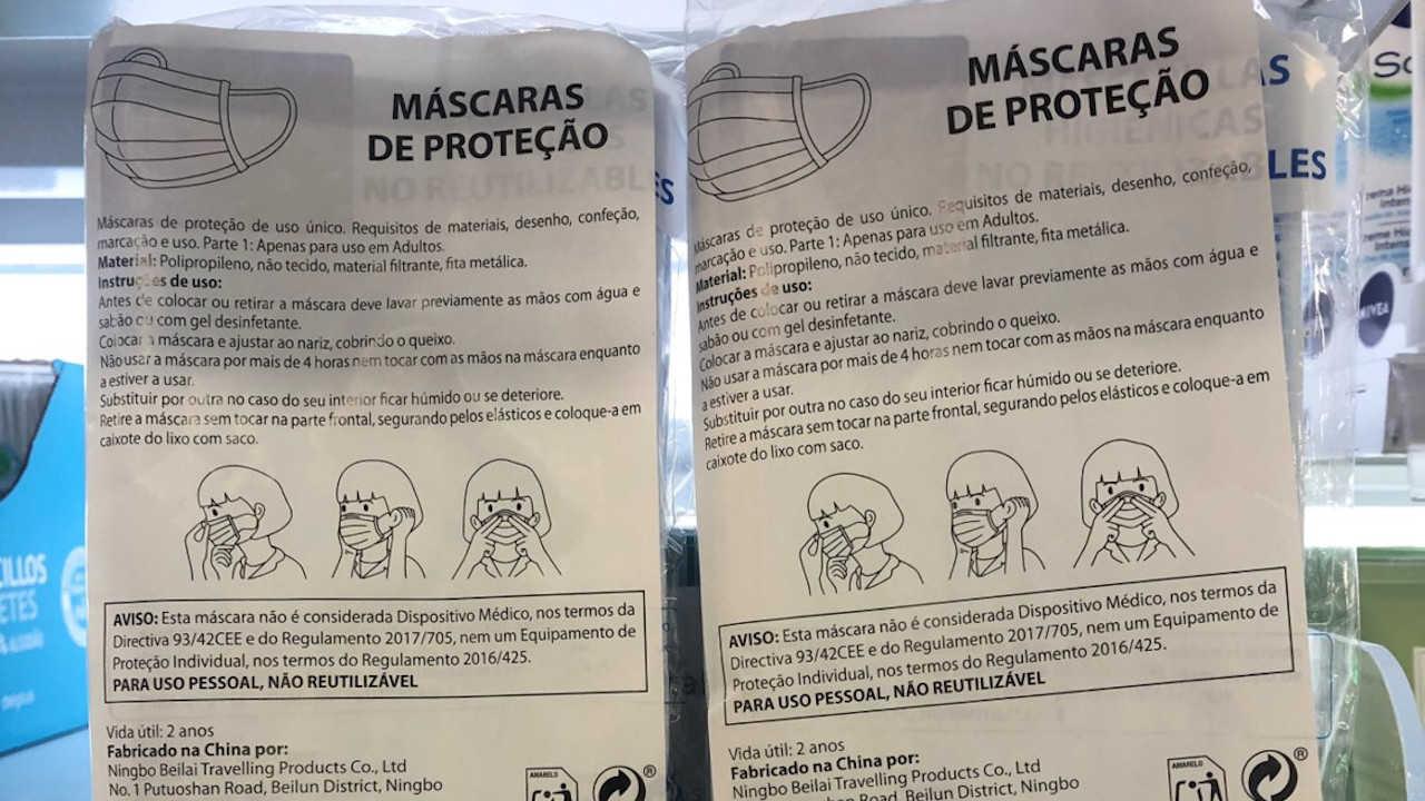 máscaras higiénicas