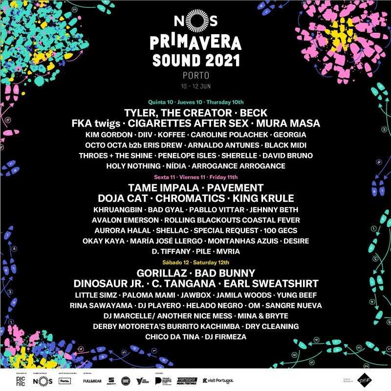 Cartaz NOS Primavera Sound 2021