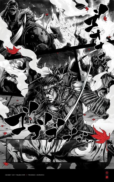 ghost of tsushima takashi okazaki poster 2