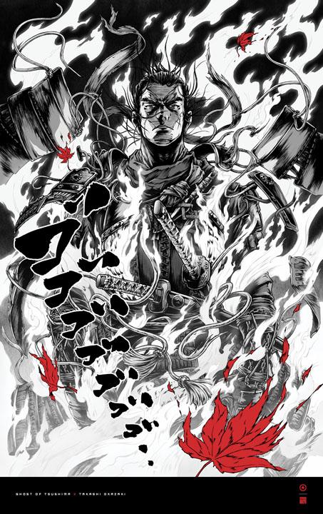 ghost of tsushima takashi okazaki poster 3