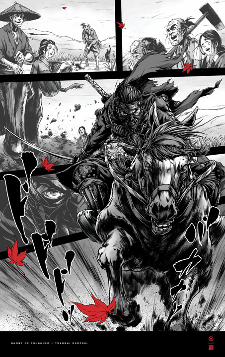 ghost of tsushima takashi okazaki poster 4