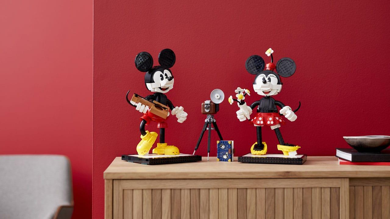 LEGO DISNEY Personagens para Construir - Mickey Mouse e Minnie Mouse