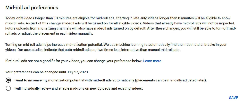 YouTube - anúncios