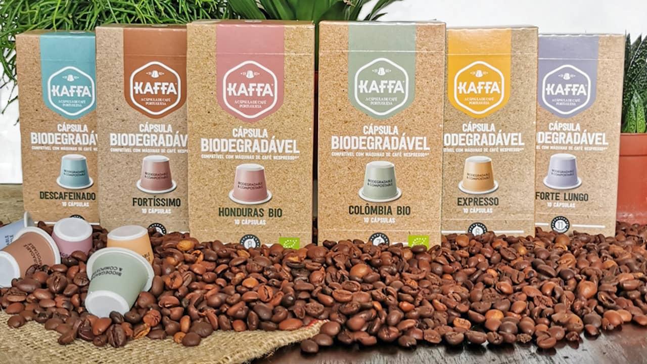 cápsula biodegradável e compostável da Kaffa