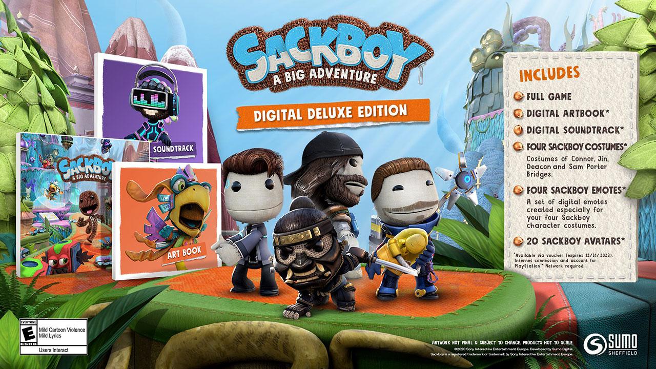 sackboy digital deluxe edition