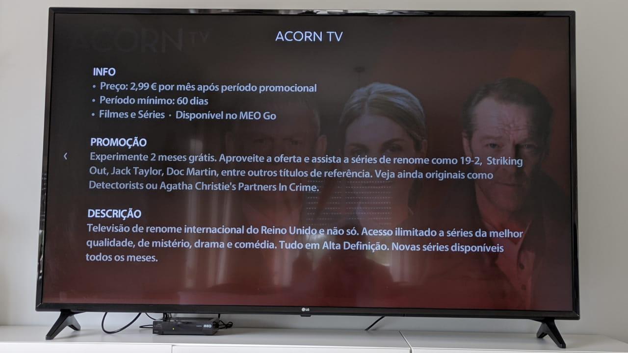 serviço de streaming Acorn TV