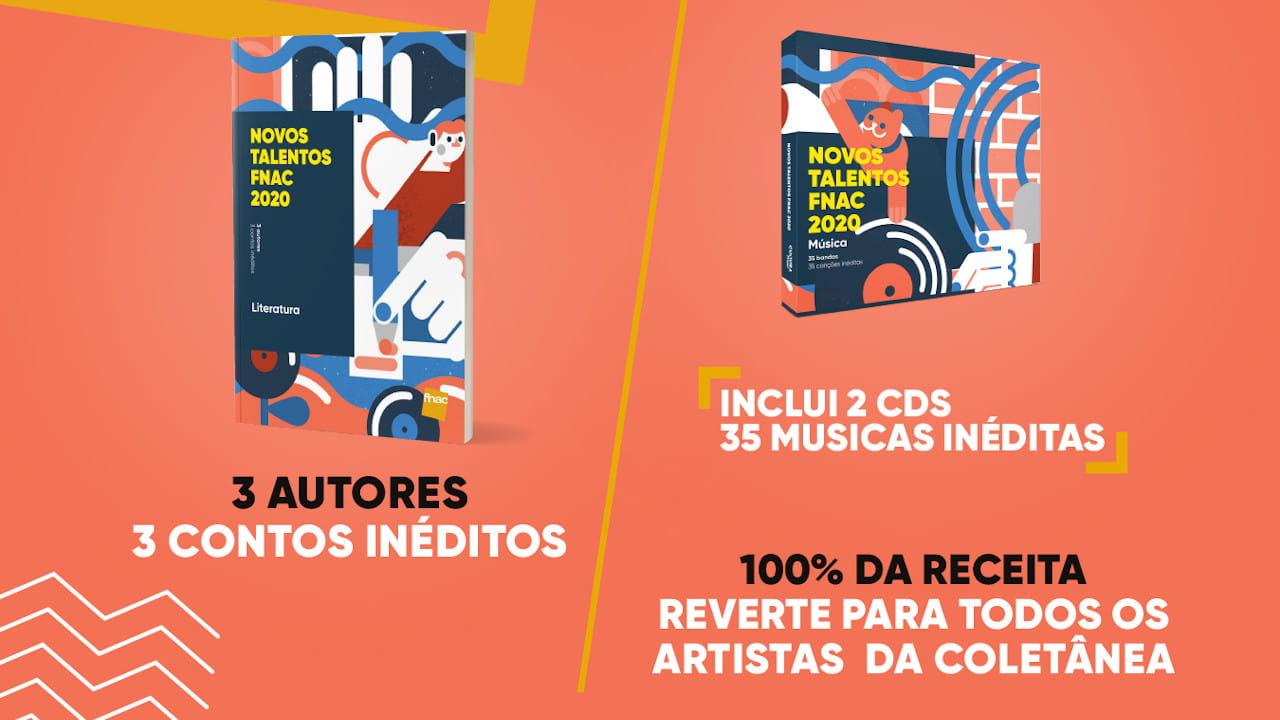 CD e livro dos Novos Talentos FNAC 2020