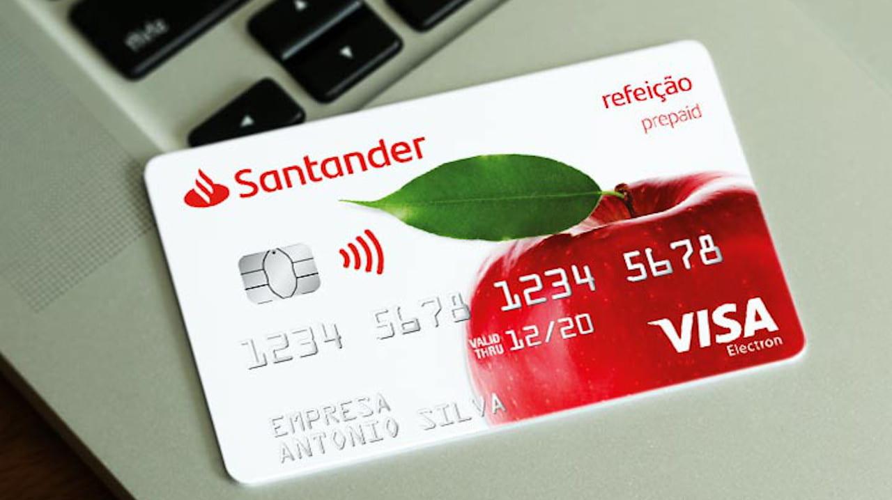 cartão refeição Santander