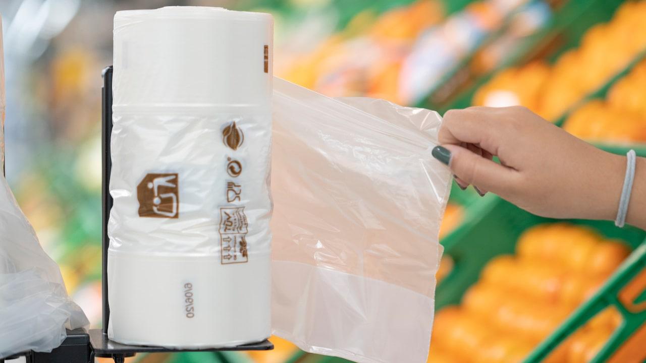 sacos de plástico de uso único