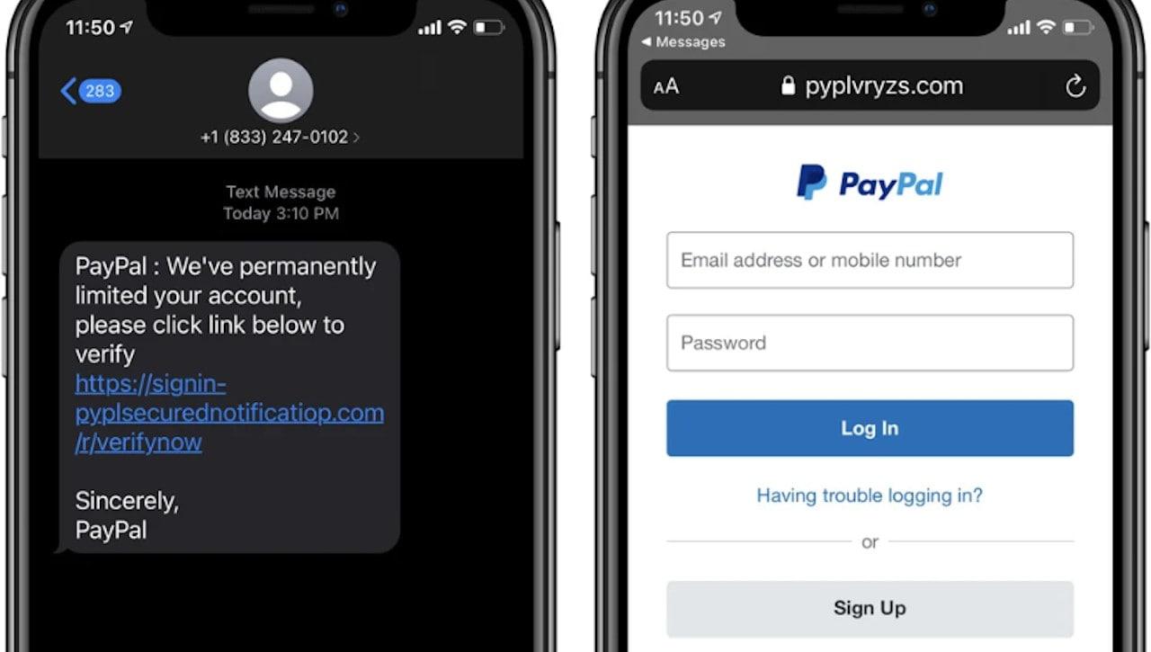 nova campanha de phishing