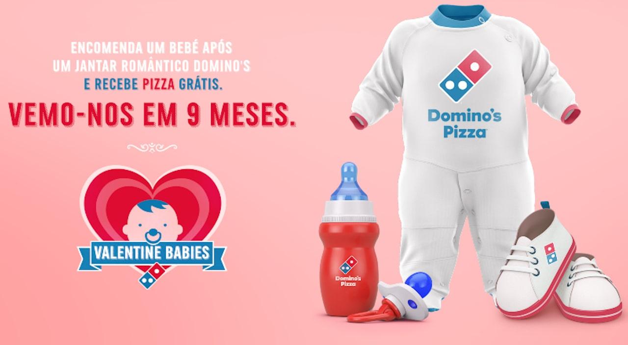 Domino's Pizza Valentine Babies - pizzas grátis
