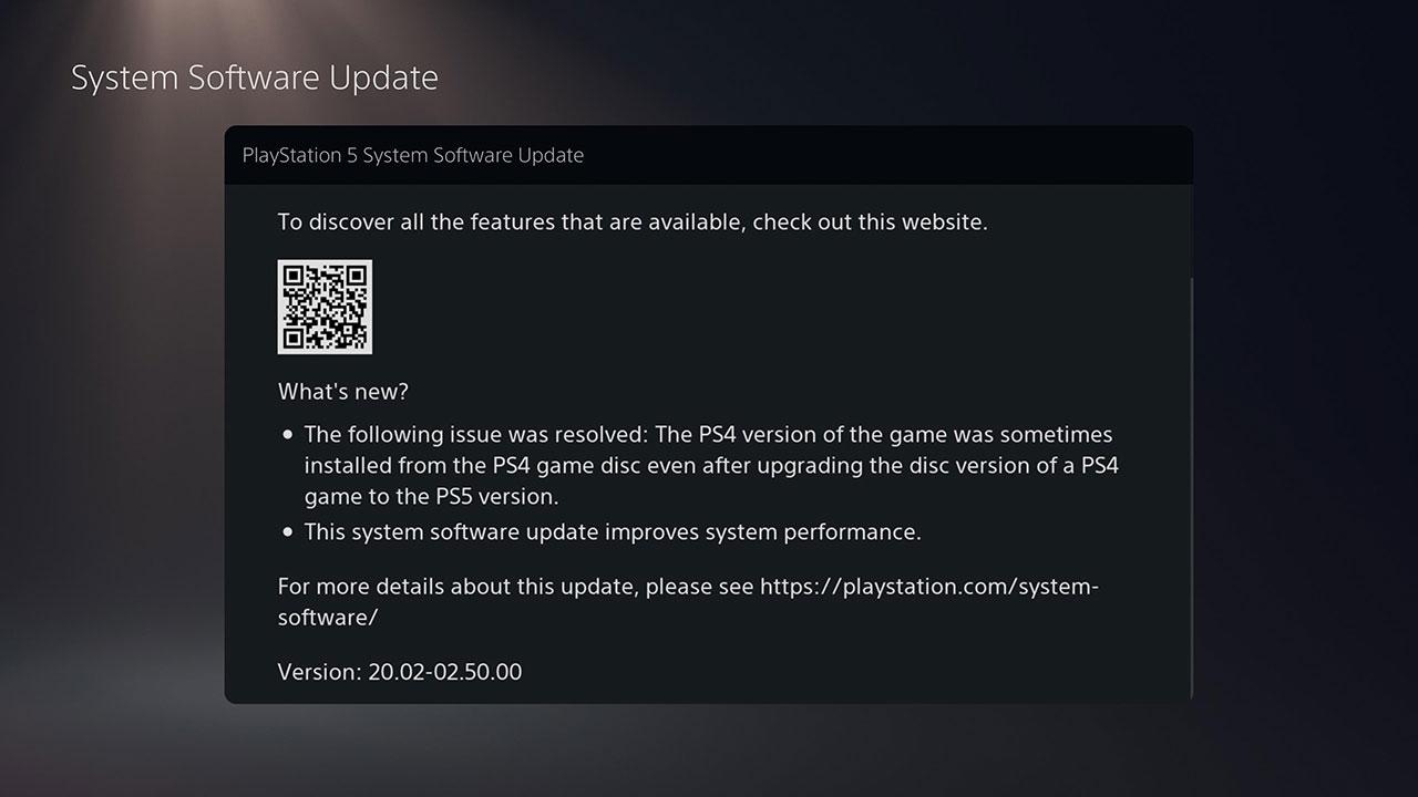 atualização para a PlayStation 5