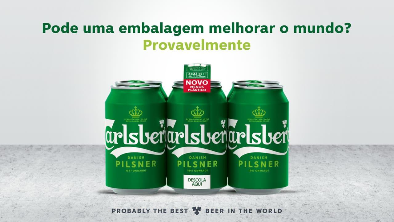Carlsberg latas de cerveja