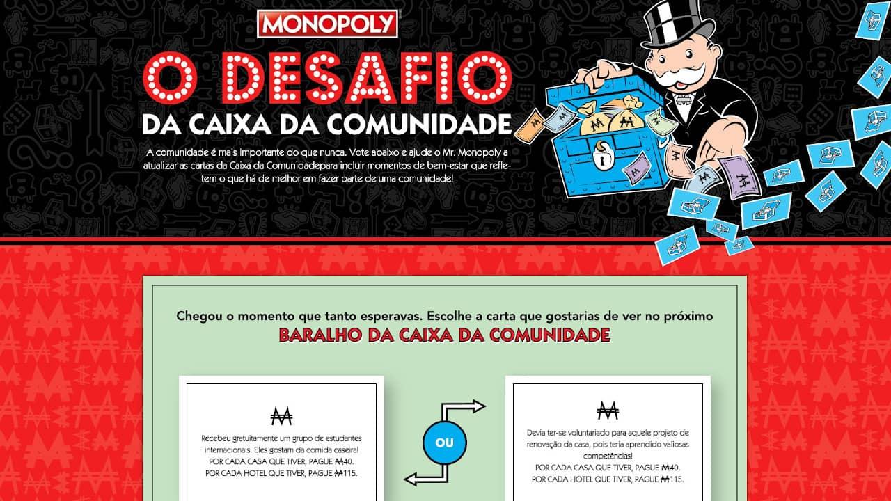 Monopólio - Caixa da Comunidade