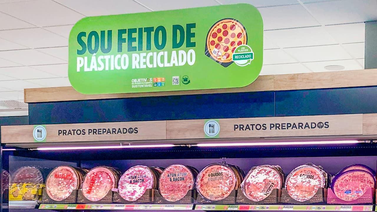 pizzas plástico reciclado
