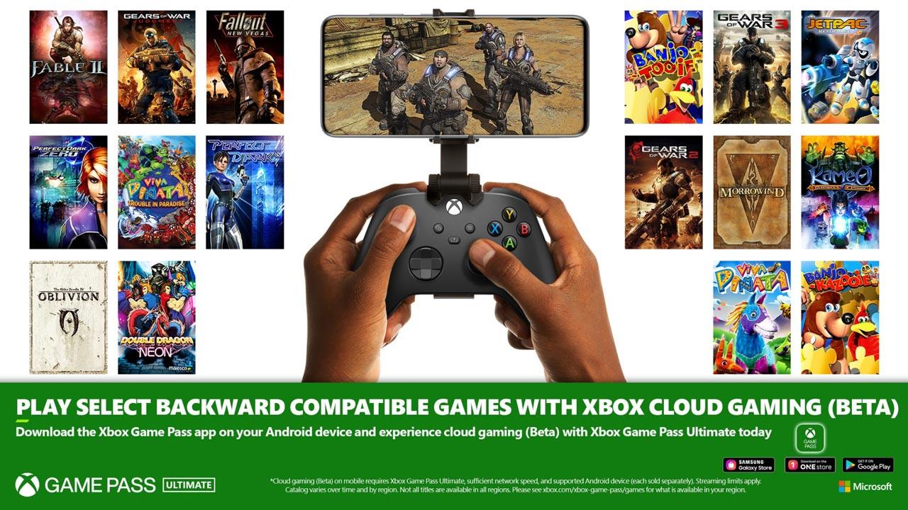 Xbox smartphones - retrocompatibilidade