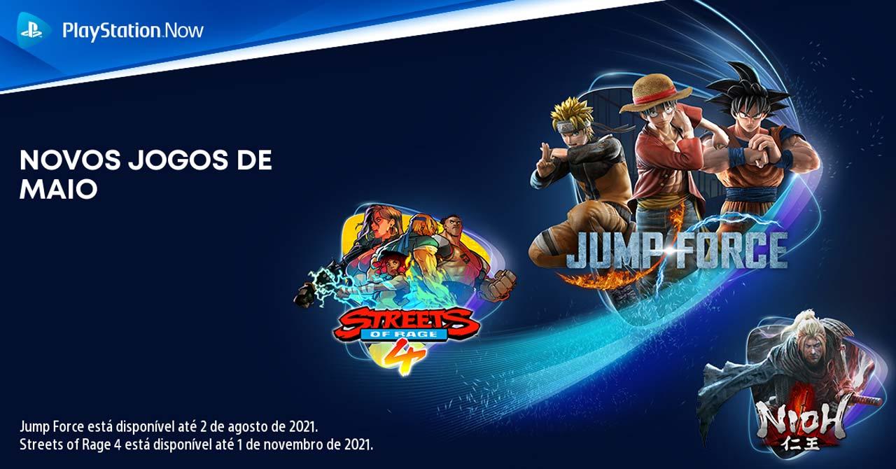 PlayStation Now em maio 2021
