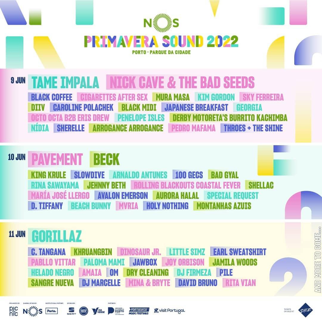 cartaz do NOS Primavera Sound 2022