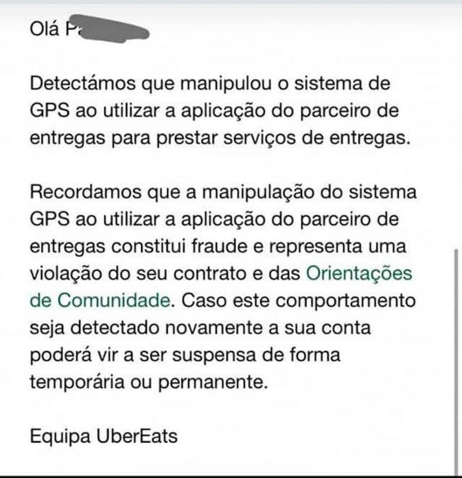 manipulacao gps uber