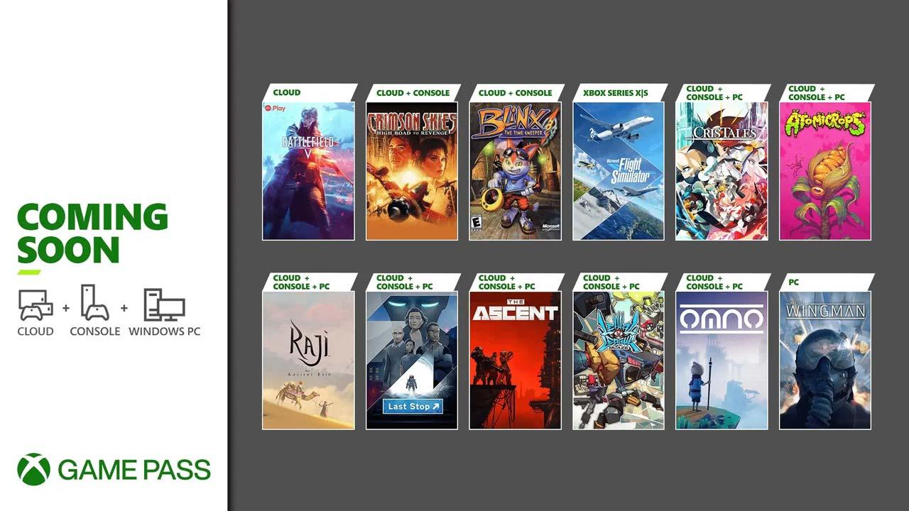 xbox game pass julho 21 2