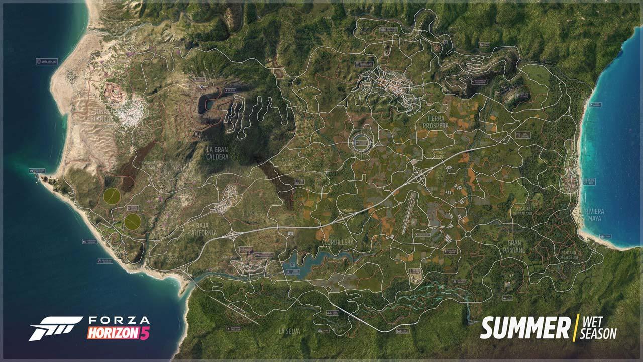 forza horizon 5 mapa completo