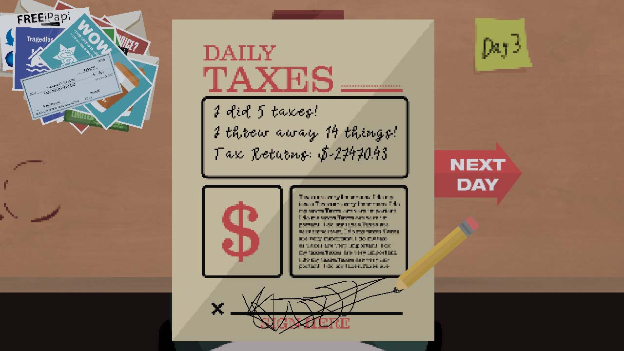 Short Games Collection - A Game Literally About Doing Your Taxes